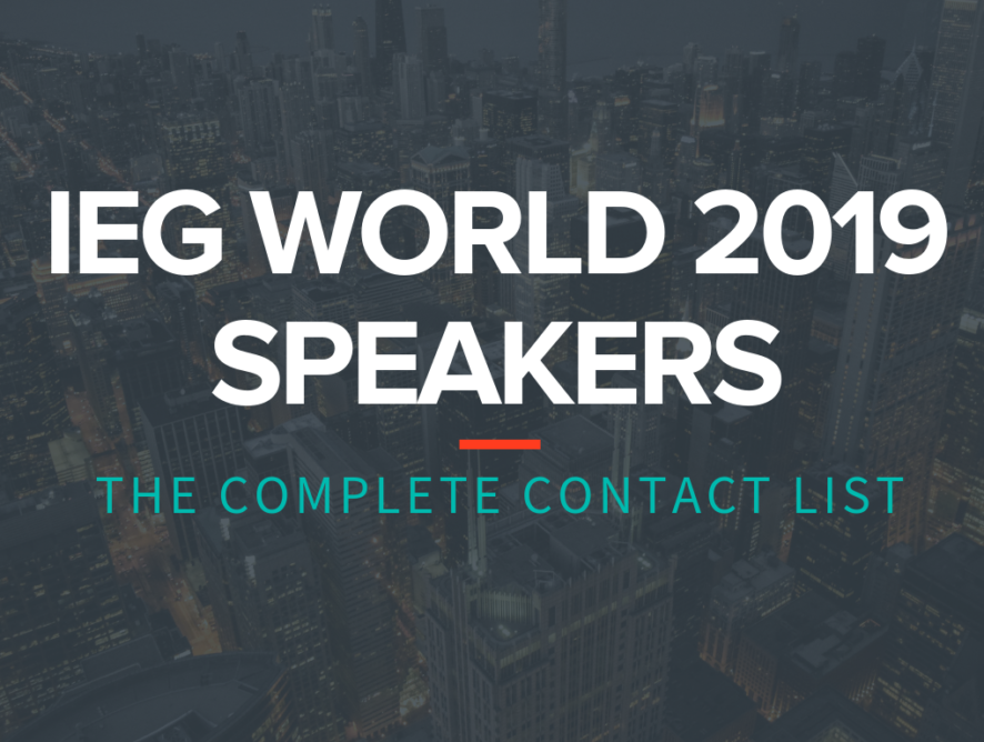 IEG World 2019 Speakers: The Complete Contact List