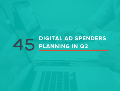 45 Digital Ad Spenders Planning in Q2